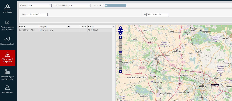 Trackerbox - Alarmsystem